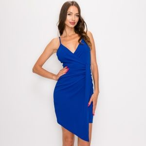 Dresses & Skirts - Caught Your Attention Bodycon Dress- Royal Blue